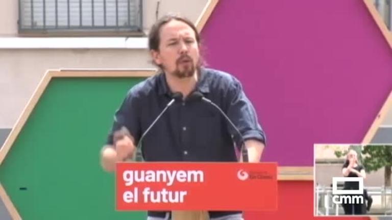 Unidas Podemos: Iglesias y Colau, en Barcelona, en un mitin ante más de mil personas