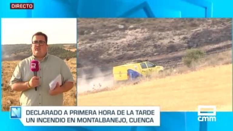 Controlado el incendio agrícola de Montalbanejo (Cuenca)