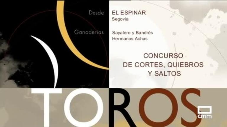Concurso de recortes, quiebros y saltos desde El Espinar