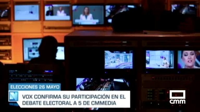 Vox acepta la invitación de Castilla-La Mancha Medida para participar en el debate a cinco del 20 de mayo