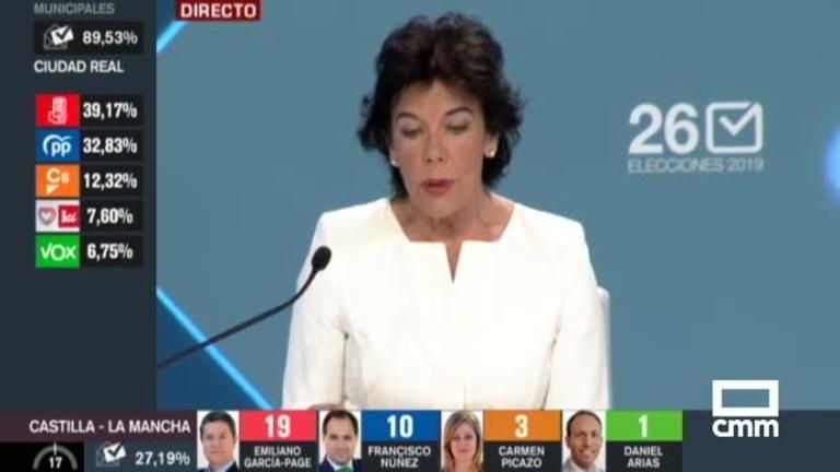 El PSOE se impone en las elecciones europeas, con 20 eurodiputados; le sigue el PP con 12