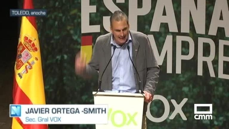 Vox: Ortega Smith critica el Pacto de Toledo en la capital regional junto a Arias