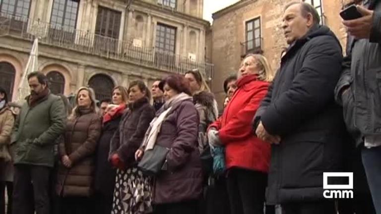 Concentraciones de repulsa por el asesinato machista en Toledo de una octogenaria
