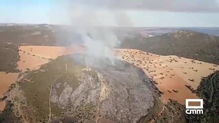 Incendio forestal en Alcaraz a punto de comenzar el invierno