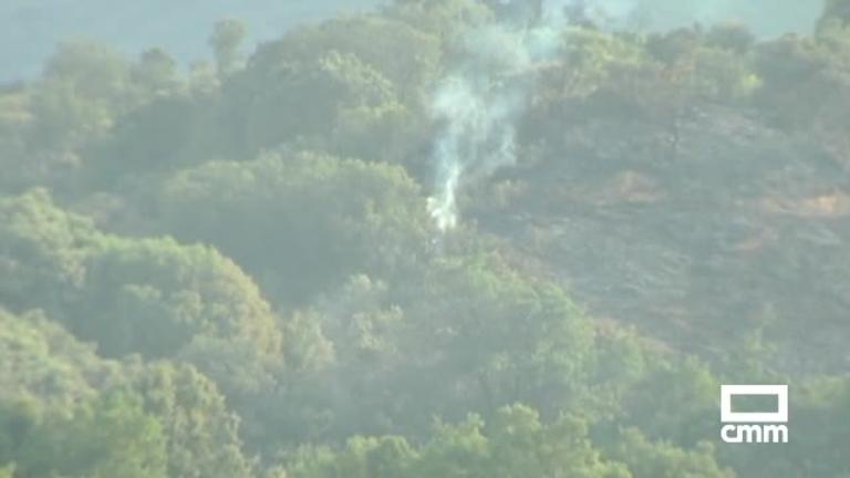Controlado el incendio declarado en Alcohujate (Cuenca)
