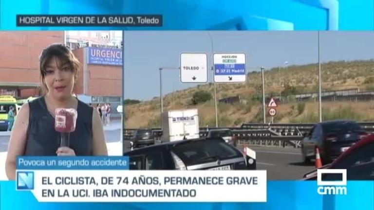 Atropellado un ciclista en la A-42, en Toledo capital