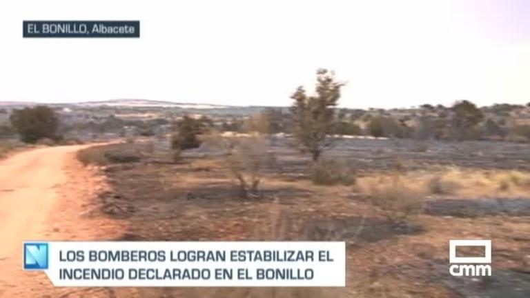 Así ha quedado el paraje de El Bonillo después del incendio de este domingo