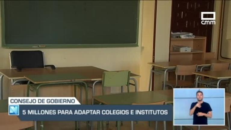 5 millones de euros para adaptar a la nueva normalidad a colegios e institutos.