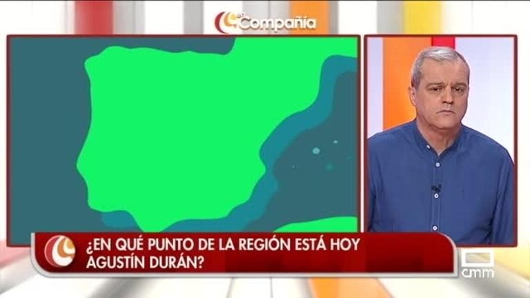 Agustín Durán se va a recoger lavanda
