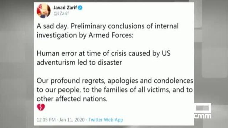Irán confirma que el avión siniestrado en Teherán fue derribado \\