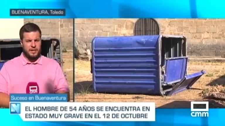 Herido un trabajador atrapado entre un camión y un contenedor en Buenaventura, Toledo