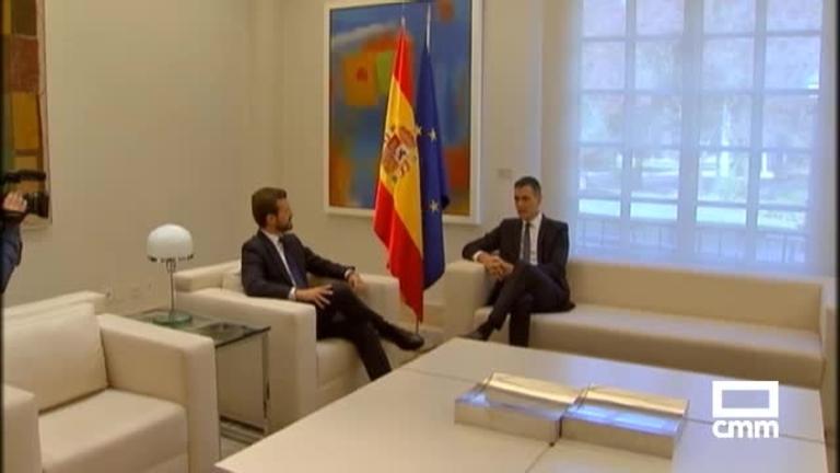 Tras las reuniones con la oposición en Moncloa, Pedro Sánchez llama a la Generalitat a que condene la violencia