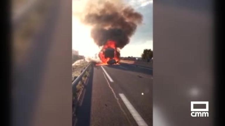 Muere, tras chocar con un camión, el conductor de un turismo que circulaba en sentido contrario en la A-4, en Ocaña