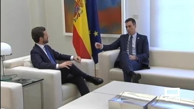 La reunión entre Sánchez y Casado, un nuevo desencuentro
