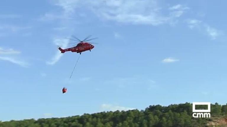 Estabilizado el incendio forestal en Monteagudo de las Salinas (Cuenca)