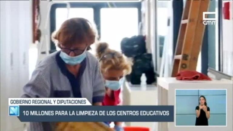 Plan de limpieza extraordinario para los centros educativos de la región