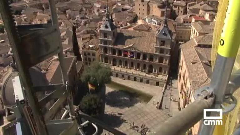 Vídeo: Las obras de rehabilitación de la Catedral de Toledo a 80 metros de altura