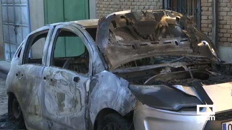 Preocupación en Alcabón (Toledo) tras la aparición de un coche calcinado