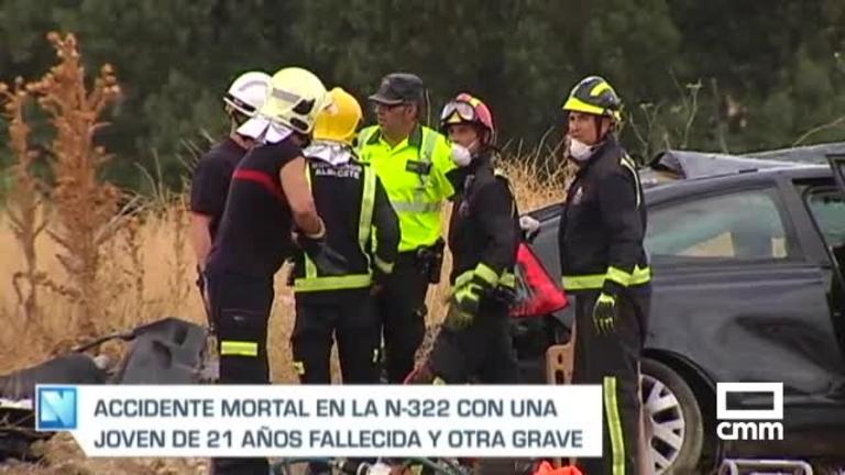 Una joven muerta y otra herida grave en un accidente de tráfico en Albacete