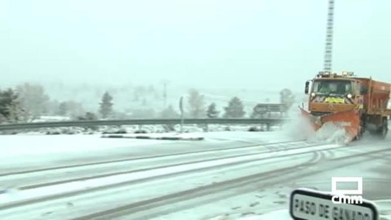 VÍDEO: Así nieva en la Sierra Norte de Guadalajara