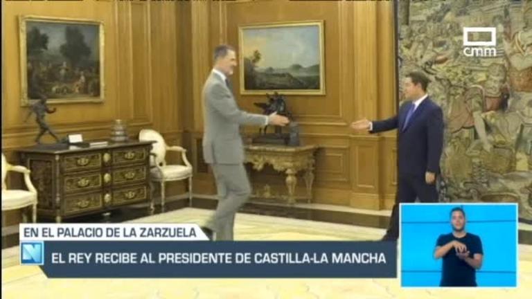 Reunión entre García-Page y Felipe VI