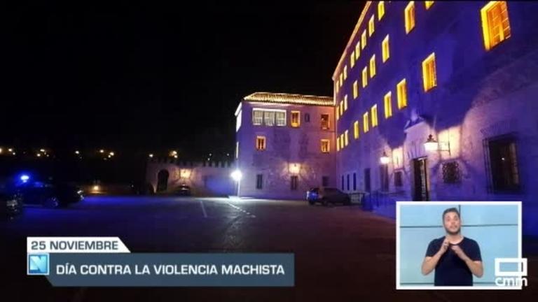El Parlamento Regional ilumina su fachada de morado en el día contra la violencia de género