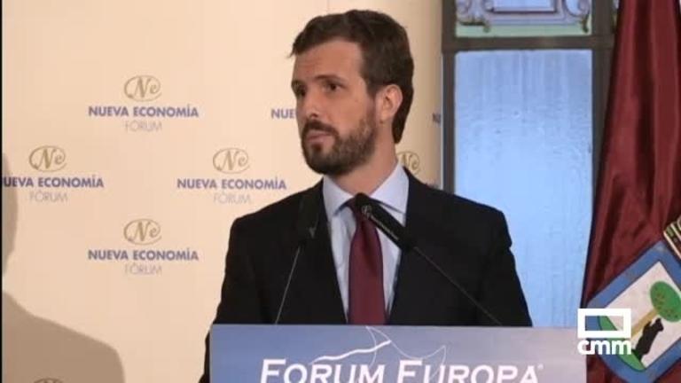 Casado (PP) desvela que Pastor será ministra; Núñez con empresarios en Albacete
