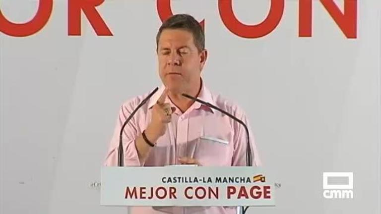 PSOE: García-Page se compromete a terminar los 5 hospitales de la región y Melchor quiere atraer empresas a Alcázar