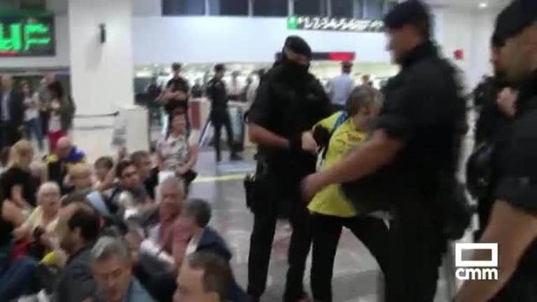 Las primeras protestas tras las filtraciones de la sentencia del procés
