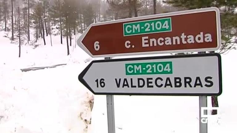 La nieve sigue afectando a carreteras de Cuenca, Guadalajara y Albacete