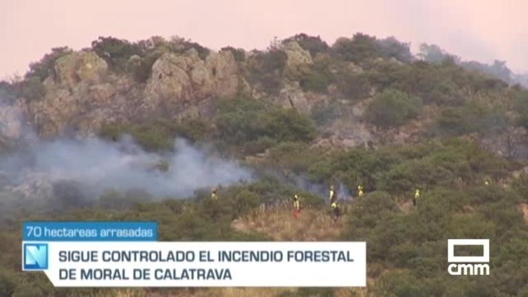 Controlado el incendio de Moral de Calatrava, Ciudad Real