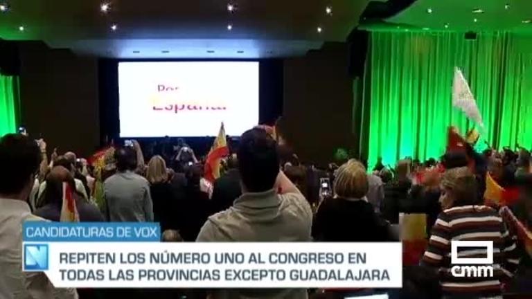 Estos son los candidatos de Vox a las elecciones del 10N por las provincias de Castilla-La Mancha