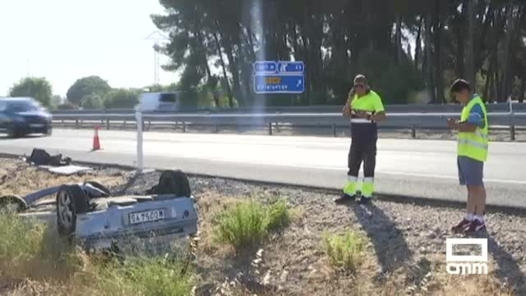 Se busca al causante de un grave accidente en Villaluenga (Toledo) que se ha dado a la fuga