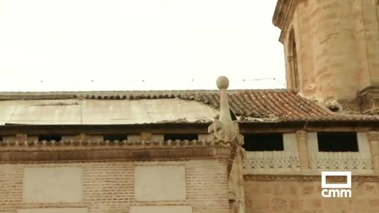 Se derrumba parte del tejado de iglesia de la Asunción de Valdepeñas; no hay heridos