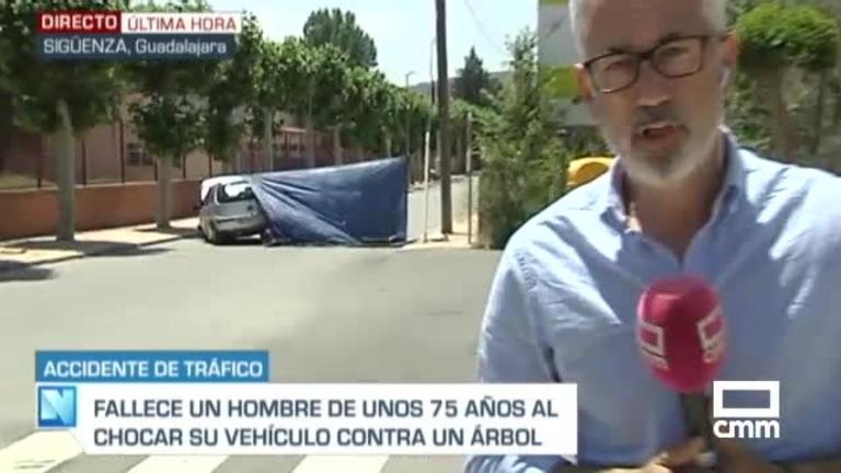 Fallece un septuagenario tras chocar su coche contra un árbol en Sigüenza
