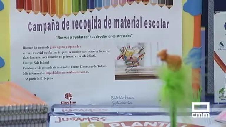 La biblioteca se suma a la campaña de Cáritas de recogida de material escolar