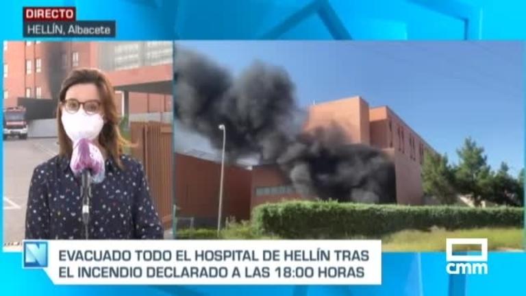Un incendio en el Hospital de Hellín obliga a evacuar a 150 personas
