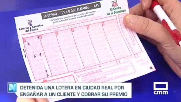 Detenida una lotera en Ciudad Real por apropiarse de un boleto premiado de un cliente