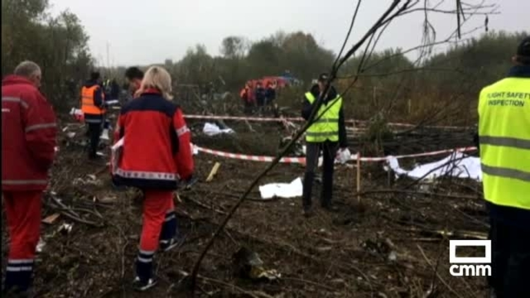 Cinco muertos tras un aterrizaje forzoso en Ucrania de un avión procedente de Vigo