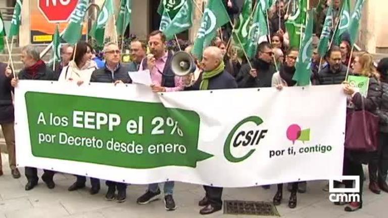 CSIF moviliza a los funcionarios para exigir a Sánchez que sus salarios suban en enero