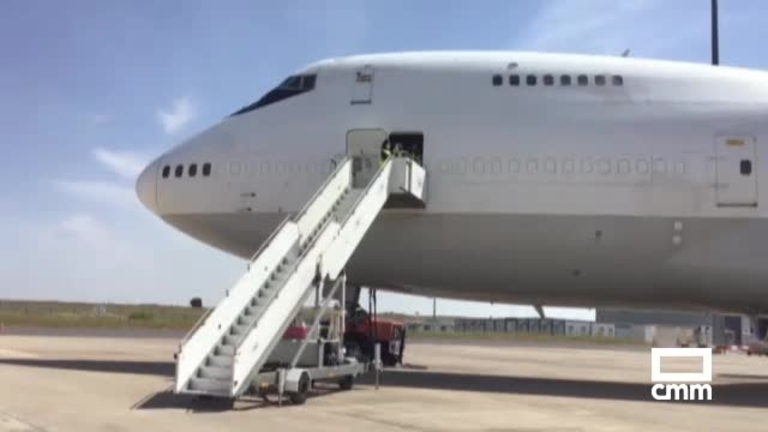 Dos nuevos aviones con material sanitario llegan al aeropuerto de Ciudad Real