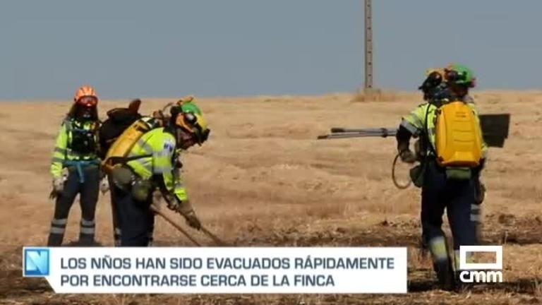 Extinguido el incendio de Ciudad Real que obligó a desalojar a 50 niños de un campamento de verano