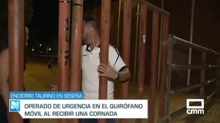 Un hombre de 35 años, herido por asta de toro en el encierro de Seseña (Toledo)