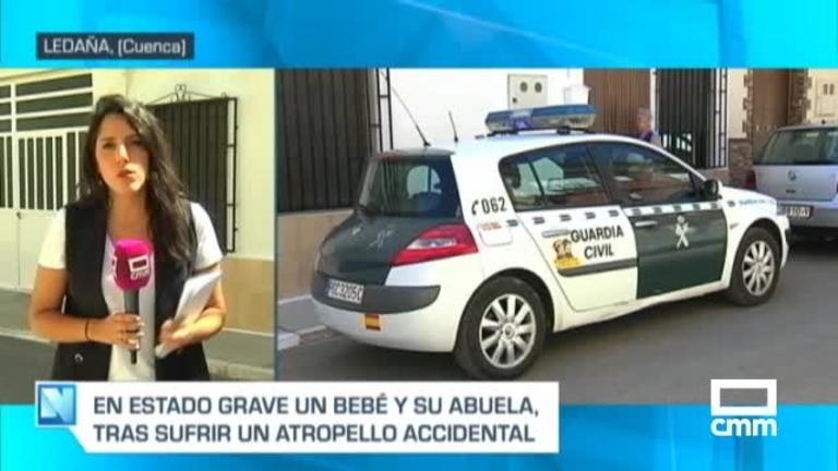 En estado muy grave la bebé atropellada accidentalmente por su abuelo en Ledaña (Cuenca)