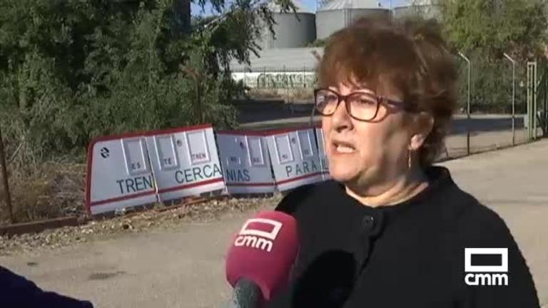 Manifestación en Numancia de la Sagra (Toledo) por un tren digno