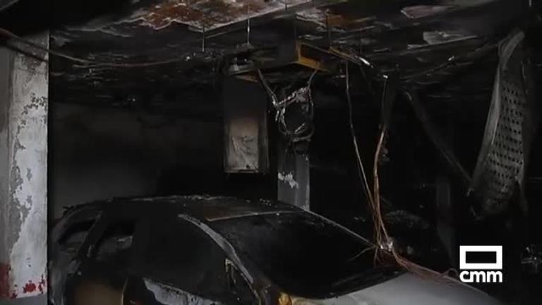 Desalojados 70 vecinos por un incendio en un garaje en Cedillo del Condado (Toledo)