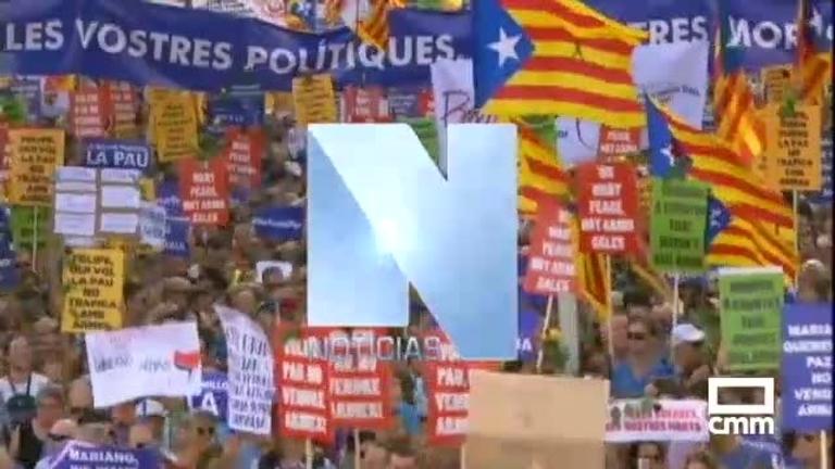 Medio millón de personas asisten a la manifestación de Barcelona