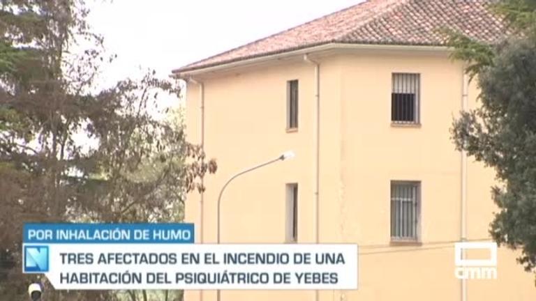 3 afectados por inhalación de humo en el incendio del Psiquiátrico de Yebes (Guadalajara)