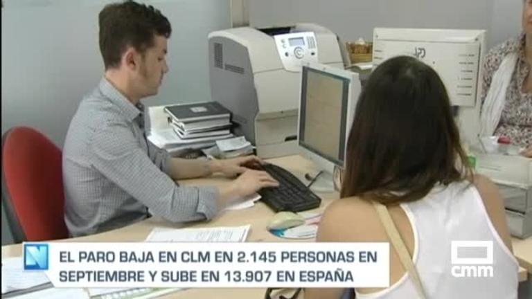 El paro baja en 2.145 personas en Castilla-La Mancha en septiembre
