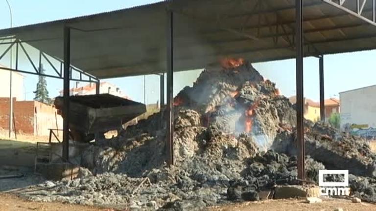 Miles de kilos de forraje arden en El Casar (Guadalajara)
